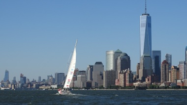 Sailing up the Hudson River