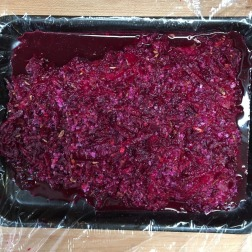 Coating with grated beets